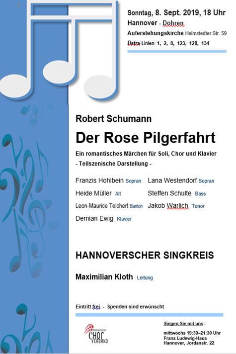 """Konzert """"Der Rose Pilgerfahrt"""""""